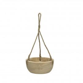 PURE - hanging bowl - paulownia hout - DIA 23 x H 10 cm