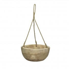 PURE - hangende schaal - paulownia - DIA 31 x H 13 cm