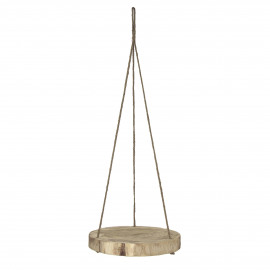 PURE - hanging plate - paulownia hout - DIA 40 x H 5 cm