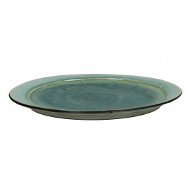 KIMO - DINNER PLATE Ø27 - Stoneware - DIA 27 cm - Aqua