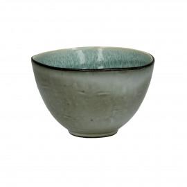 KIMO - stoneware - DIA 13,5 x H 8,5 cm - Aqua