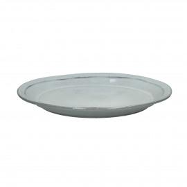 AUTHENTIC - plat bord - stoneware - licht blauw - Ø27 cm