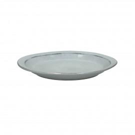 AUTHENTIC - dessert bord - stoneware - licht blauw - Ø22,5 cm