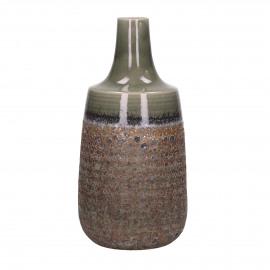 BYRON - vaas - porselein - bruin/groen - L - Ø18.2xh37 cm