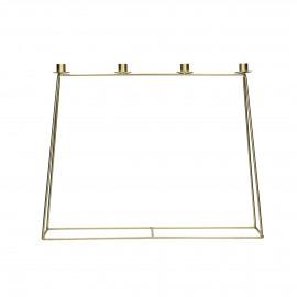 ÜTKA - kandelaar - metaal - L 60 x W 10 x H 48 cm - goud