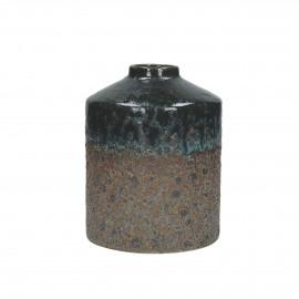 LEILA - vase - porcelaine - bleu - S - Ø16xh20,5 cm