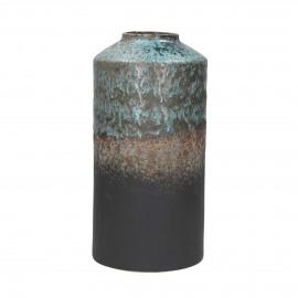 LEILA - vaas - porselein - blauw - M - Ø20xh39,5 cm
