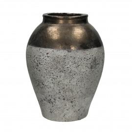 KNOSSOS - vase - céramique - naturel/bronze - S - Ø27xh35 cm