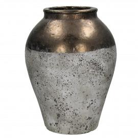 KNOSSOS - vaas - keramiek - naturel/brons - M - Ø34xh45,5 cm