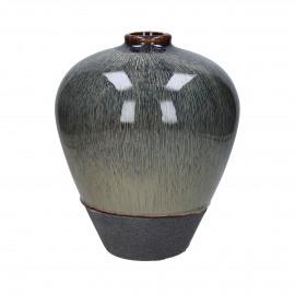 ATLANTIS - vaas - keramiek - ecru/paars - Ø23,5xh28 cm