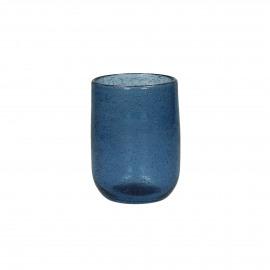 VICTORIA - waterglas - glas - blauw - 7x10cm