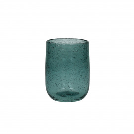 VICTORIA - waterglas - glas - donker aqua - 7x10cm