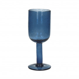 VICTORIA - wijnglas - glas - blauw - 7x18,5 cm