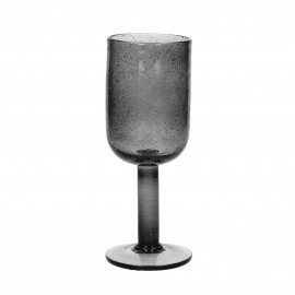 VICTORIA - wijnglas - glas - smoke grijs - 7x18,5 cm