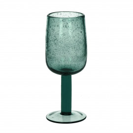 VICTORIA - verre à vin - verre - DIA 7 x H 18,5 cm - teal