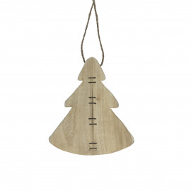 TYR - suspension de noël arbre - bouleau - L 12 x W 2 x H 15 cm - naturel