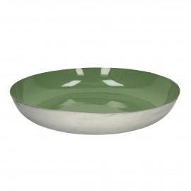 BAHAI - deco schaal - metaal - groen - 52x8,5 cm
