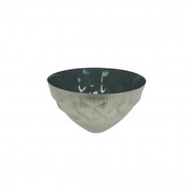 BAHAI - drijvend theelichthouder - metaal - donker groen - 8x5 cm