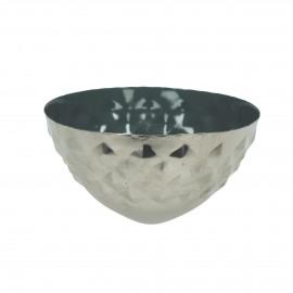 BAHAI - photophore flottante - métal - DIA 12 x H 6 cm - vert foncé