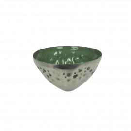 BAHAI - photophore flottante - métal - DIA 8 x H 5 cm - vert
