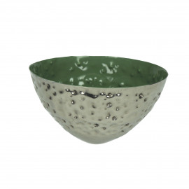 BAHAI - floating candle holder - metal - green - 12x6 cm