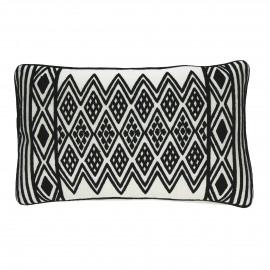 BLACK & WHITE - kussen ruit - katoen - zwart/wit - 30x50 cm