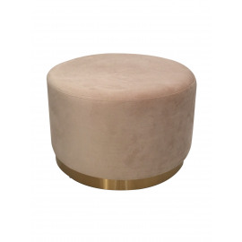 POMPADOUR  - poufe - velvet - DIA 55 x H 34 cm - blanc cassé