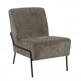 LALALAND - fauteuil - polyester / fer - L 51 x W 75 x H 74 cm - Taupe