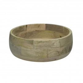 DOMI - saladier - bois de mangier - DIA 25 x H 8,5 cm