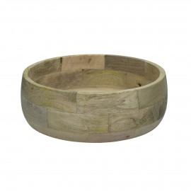 DOMI - saldae kom - mango hout - DIA 25 x H 8,5 cm