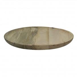 DOMI - dienblad - mango hout - DIA 39 cm