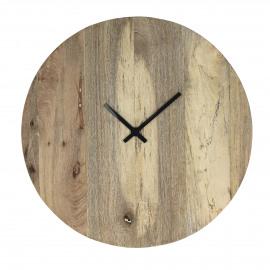KARNA - clock - mango wood - Ø40 cm