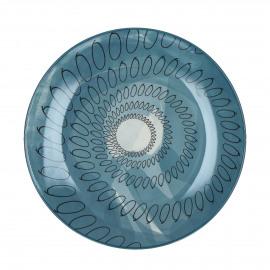 O'S - dessert bord - porselein - blauw - Ø22cm