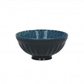 O'S - kom - porselein - blauw - 12x6 cm