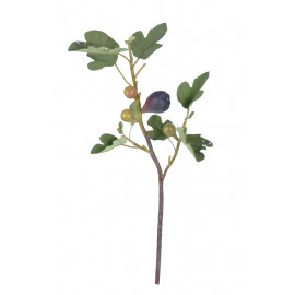 FIG - branche de figue - synthétique - H 74 cm - bordeaux
