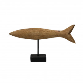 FISH-Wood carving-Mango- 42 x 10 x 24 cm
