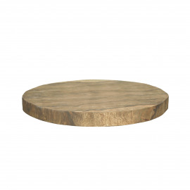 ORGANIC - chopping board - mango wood - DIA 32 x H 3 cm