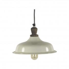 FARMER-Hanglamp-Ijzer-E27-Hout-Ivoor-S- dia 26 cm