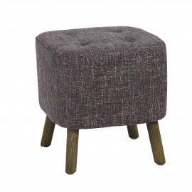 KENNEDY - stool - cotton - L 38 x W 38 x H 40 cm - Gray