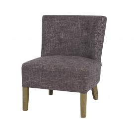 KENNEDY - fireside chair - cotton - L 52 x W 58 x H 68 cm - grey