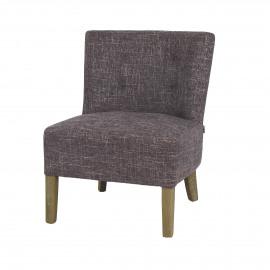 KENNEDY - fireside chair - cotton - L 52 x W 58 x H 68 cm - Gray