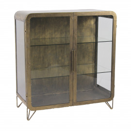 ALPHA - armoire - fer - L 92 x W 43 x H 99 cm - or