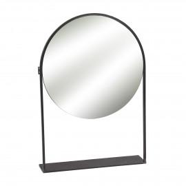 FRAX  - spiegel - metaal - L 52,5 x W 12 x H 76,5 cm - Zwart