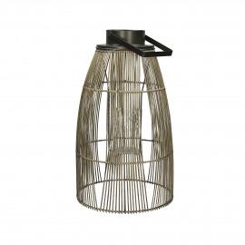 AZIA  - lantern - cane - DIA 30 x H 50 cm - brown