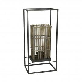 AZIA  - cane / metal - L 24 x W 18 x H 50 cm - brown