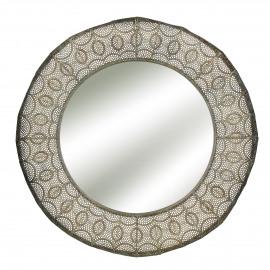 CORONNE - miroir - métal - or - Ø71x6 cm