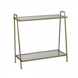 BUTLER - console - metal/glass - gold - 72x30x72 cm