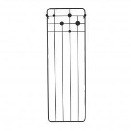 MURA - portemanteau - métal - L 52 x W 18,5 x H 150 cm - Noir