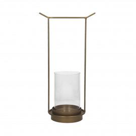 ORIENT  - lantern - metal - L 20,5 x W 14 x H 39,5 cm - gold