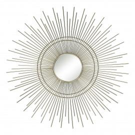 AURA - miroir - métal - or - Ø46 cm